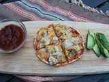 Easy Tortilla Pizza / FromOurDinnerTable