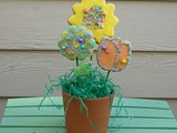 Flower Pot Spring Cookies / #SpringSweetsWeek