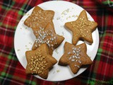 Gingerbread Cookie Stars / #ChristmasCookies