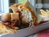 Inside Out bbq Ribs Grilled Cheese / #SundaySupper