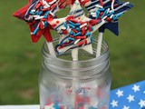 Red, White and Blue Shooting Stars / #SundaySupper