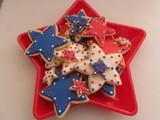 Red, White and Blue Star Cookies