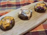 Reuben Stuffed Mushroom Appetizers / #NationalMushroomMonth