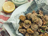 Crispy Baked Fiddleheads with Spicy Lemon-Sumac Yogurt Dipping