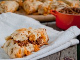 Tv and some Bacon Jam [Chipotle Bacon Jam w Cheddar & Caramelized Onion Scones]