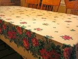 Christmas Sewing, Making an Oval Christmas Tablecloth, a Special Gift