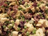 Crunchy Pea & Cauliflower Salad with Almond & Cranberries, Not to Mention the Bacon