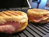 Egg and Canadian Bacon Panini