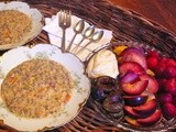 Gluten Free Dinner with Joyce, Wild Rice Soup and Fruit Platter