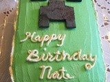 minecraft  Devils Food Birthdsay Cake with White Chocolate Butter Cream Frosting a Tutorial with Pictures