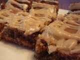 White Chocolate Walnut Blondie with Maple Butter Glaze