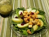 Cashew Pear Tossed Salad with Poppy Seed Vinaigrette