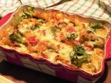 Mafalda and Vegetables With Asiago Fontina Cheese Sauce