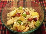 Roasted Chicken Salad with Pears and Grapes