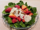 Strawberry Spinach Salad with Yogurt Poppy Seed Dressing                         Dressing