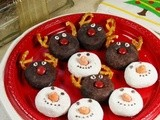 Adorable Rudolph & Snowmen Mini Donuts {Merry Christmas to You!}