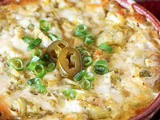 Cheesy Baked Artichoke Dip with a Kick