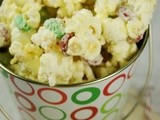 Christmas White Chocolate-Peppermint Popcorn