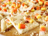 Easy Candy Corn Slab Cookies {& Halloween Savings with Walmart.com!}