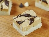 Marbled Peanut Butter & Chocolate Shortbread Bars {& cherryBLOX Engraved Cutting Board Give-Away!}