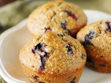 {Mostly} Whole Grain Blueberry Oatmeal Muffins