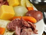 New England Boiled Dinner {aka ~ Corned Beef & Cabbage}