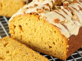 Pumpkin Banana Bread with Honey Glaze