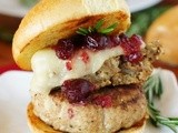 Turkey Burger with Dressing & Cranberry Sauce {aka: Holiday Burger}