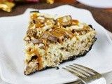 Twix Cheesecake Pie {& Brandon LaFell's Chocolate Explosion Popcorn for Charity}