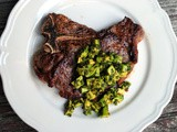 Avocado chimichurri for Grilled Steak