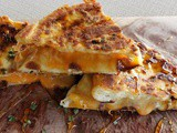 Garlic butter naan grilled cheese