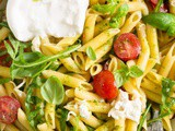 Burrata Pasta Salad with Basil Oil