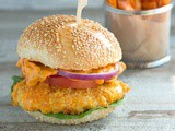 Buttermilk Oven Fried Chicken Burger with Spicy Mayo