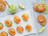 Gluten-free Blini with Avocado Cream and Salmon