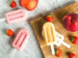 Nectarine Strawberry Smoothie Popsicles