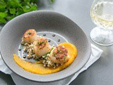 Spicy Scallops with Pumpkin Puree