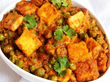 Matar Paneer Recipe | Green Peas & Cottage Cheese Curry