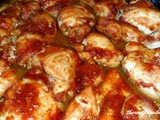 Iron skillet baked chicken thighs