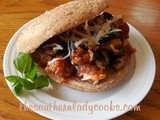 Italian sausage and manwich sandwich or skillet meal