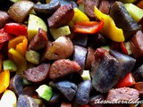 One pan smoked sausage and roasted vegetables