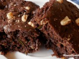 Sour cream zucchini brownies