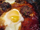 Kefta Tagine Bil Beid (Moroccan Meatball Tagine With Tomato & Eggs)