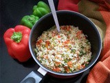 Bell Pepper Rice: Prettiness on a Plate