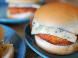 Buffalo Chicken Sandwiches made with Castello® Burger Blue cheese