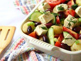 Greek Potato Salad with Tofu Feta | Vegan Recipe