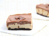 Valentine's Day Treats: Salted Caramel Chocolate Cheesecake Slices | Raw, Vegan