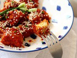 Vegan Korean Fried Tempeh | Oil-free Air Fryer Recipe