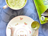 Vanilla and cardamom spiked Green matcha tea Latte