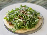 Herbed Flatbread Pizza with Arugula, Sundried Tomato and Ricotta Salata