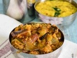Eggplant Podi Curry Recipe| South Indian Lunch Recipes